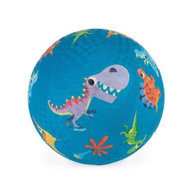 Janod - Piłka Gumowa Niebieska Dinozaury
