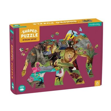 Mudpuppy - Puzzle Konturowe Słoń Afrykański Safari 300 elementów 7+