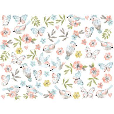 Pastelowelove - Naklejka na Ścianę Ptaszki Brązowe