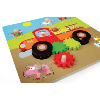 Scratch - Puzzle z Uchwytem Samochód Farma 18m+