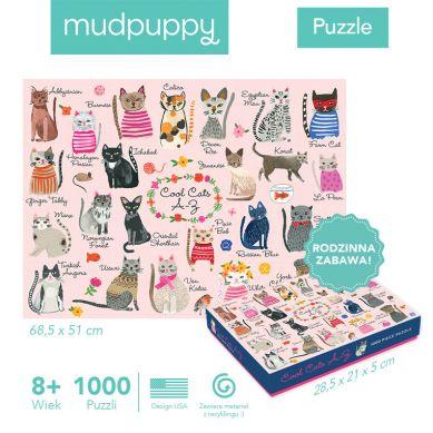 Mudpuppy - Puzzle Rodzinne Koty 1000 Elementów