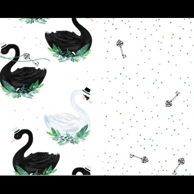La Millou - Komplet Pościeli M Jungle Swan &Jungle Swan Lake 80x100cm/30x40cm