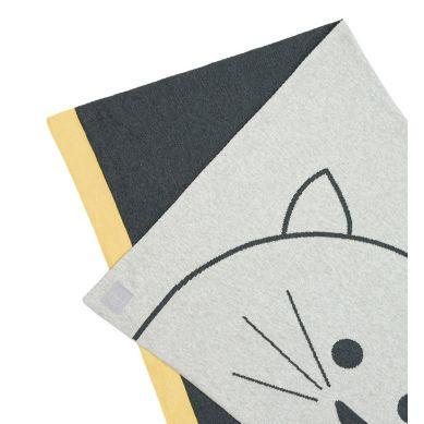 Lassig - Muślinowy Kocyk z Bawełny Organicznej 75x100cm Little Chums Kot