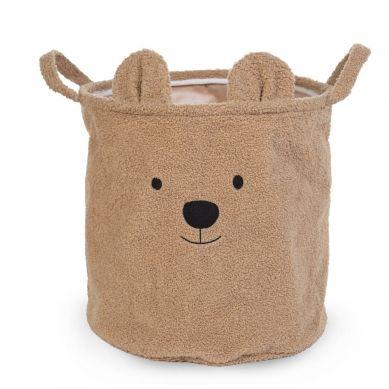 Childhome - Pluszowy Pojemnik na Zabawki 40 x 40 x 40 cm Teddy Bear