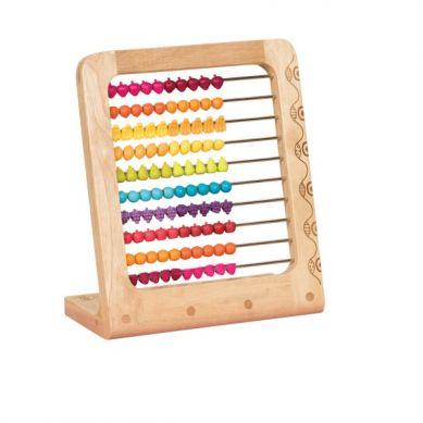B. Toys - Drewniane Liczydło z Paciorkami w Kształcie Owoców