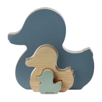 Hevea - Drewniana Układanka Kaczuszki Niebieska