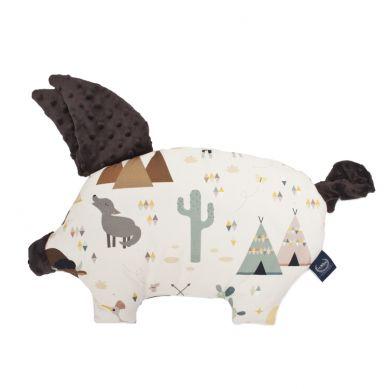 La Millou - Podusia do Wózka Sleepy Pig Peguin Buffalo Chocolate