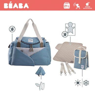 Beaba - Torba dla Mamy Sydney Play Print Blue