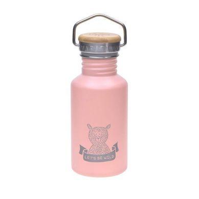Lassig - Bidon ze stali nierdzewnej z dodatkowym ustnikiem ze słomką Adventure rose 500 ml