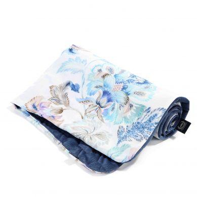 La Millou - Kocyk/Narzutka Przedszkolaka Velvet Collection 110x140 Iris Sorbet Harvard Blue