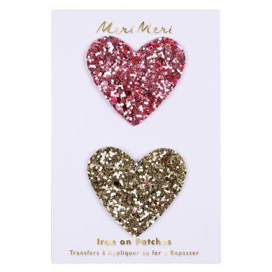 Meri Meri - Zestaw Naprasowanek Glitter Hearts
