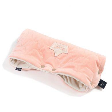 La Millou - Mufka Premium Velvet Collection Powder Pink & Rafaello