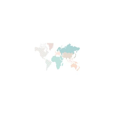 Dekornik - Naklejki Ścienne Mapa 2 180x107cm