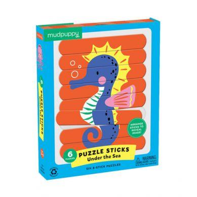 Mudpuppy - Puzzle Patyczki  Morskie Stworzenia 3+