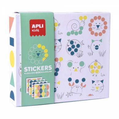 Apli Kids - Zestaw z Naklejkami Geometrycznymi Zwierzęta 3+