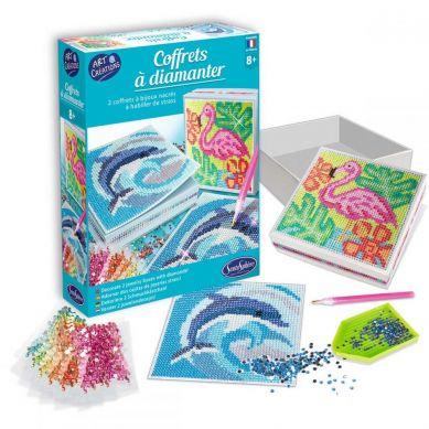Sentosphere - Zestaw Kretywny Pudełka z Diamentami Delfin i Flamingo