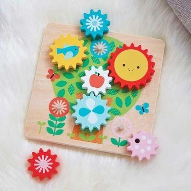 Petit Collage - Drewniane Ruchome Puzzle dla Dziecka Drzewo
