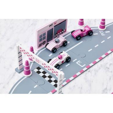 Kids Concept - Drewniany Tor Wyścigowy Pink