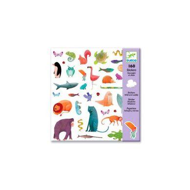 Djeco - Zestaw 160 Naklejek Zwierzątka