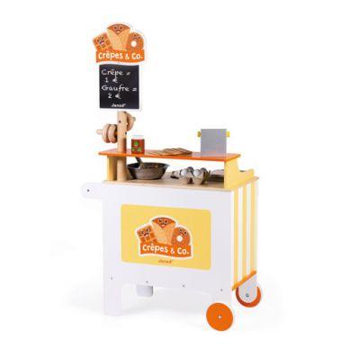 Janod - Mobilna Drewniana Cukiernia z 40 Akcesoriami
