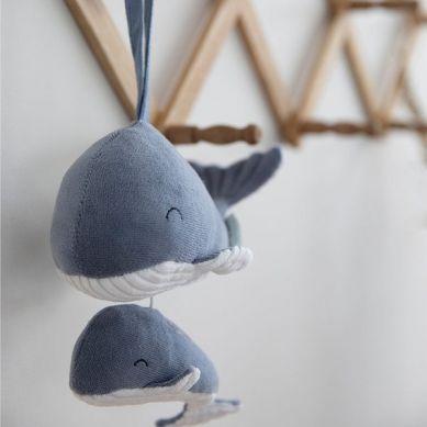 Little Dutch - Pozytywka Wieloryb Ocean Błękit 0m+
