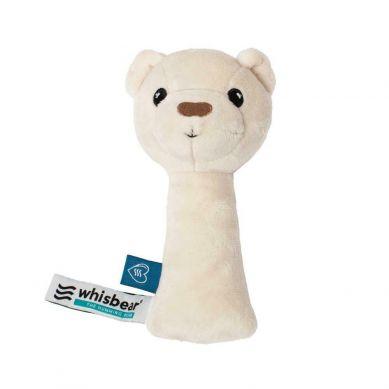 Whisbear - Grzechotka Króliczek Miś Biały 0m+