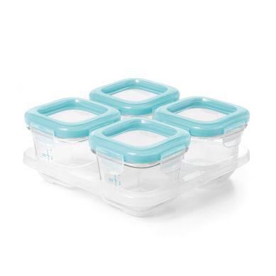 OXO - Pojemniki Szklane do Zamrażania 4 szt Blue