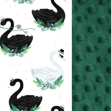 La Millou - Kocyk Niemowlaka 65x75 cm Jungle Swan Bottle Green