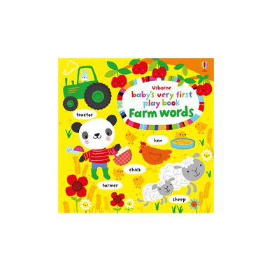 Wydawnictwo Usborne Publishing - Baby's Very First Playbook Farm Words