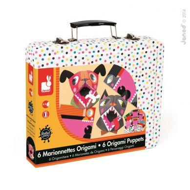 Janod - Zestaw Artystyczny Origami Kolorowe Zwierzęta