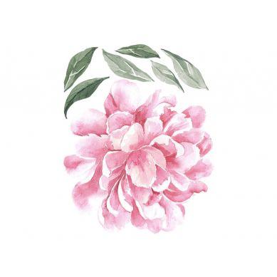 Pastelowelove - Naklejka na Ścianę Piwonia Różowa 30cm