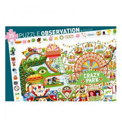 Djeco - Puzzle Obserwacyjne 35el. Crazy Park
