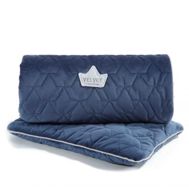 La Millou - Komplet Pościeli Velvet Collection Blanket & Mid Pillow Harvard Blue