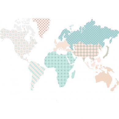 Dekornik - Naklejki Ścienne Mapa 2 Pastelowa M