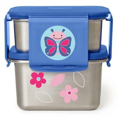 Skip Hop - Stalowe Pudełko Śniadaniowe Motyl