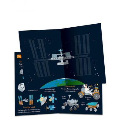 Auzou - Zeszyt z Naklejkami Kosmos 3+