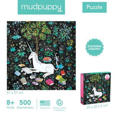 Mudpuppy - Puzzle Rodzinne Zaczytany Jednorożec 500el 8+