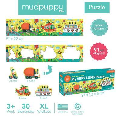 Mudpuppy - Metrowe Puzzle Transport 30 Elementów