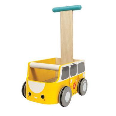 Plan Toys - Drewniany Chodzik Żółty Van