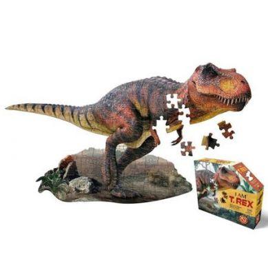 Madd Capp - Puzzle Konturowe I AM T-Rex 100 elem. 5+