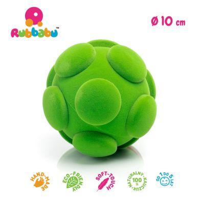 Rubbabu - Piłka Sensoryczna z Delikatną Fakturą Guziki Zielona