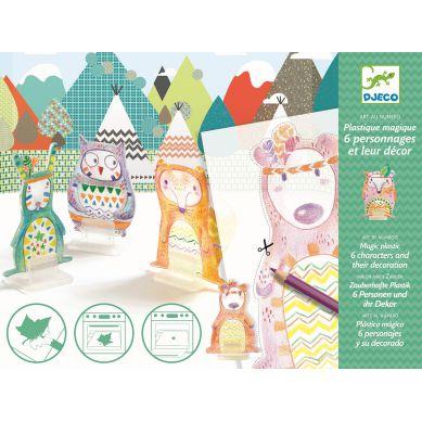 Djeco - Zestaw Kreatywny Magiczny Plastik Pow Wow