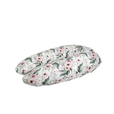 Muzpony - Wielofunkcyjna poduszka dla kobiet w ciąży i do karmienia Peonie