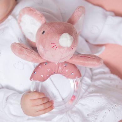 Tiamo - Grzechotka z Kuleczkami Myszka Baletnica Różowa
