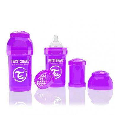 Twistshake - Butelka Anty-kolkowa 180ml Fioletowa