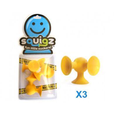 Fat Brain Toys - Przyssawki Squigz Dodatkowe 3 Żółte