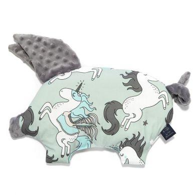 La Millou - Poduszeczka Sleepy Pig by Maja Bohosiewicz Unicorn Rainbow Knight Grey