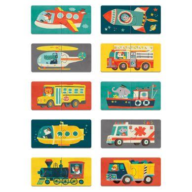 Mudpuppy - Dwuczęściowe Puzzle Środki Transportu 10 par