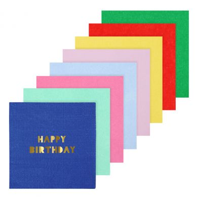 Meri Meri - Serwetki Urodzinowe Happy Birthday