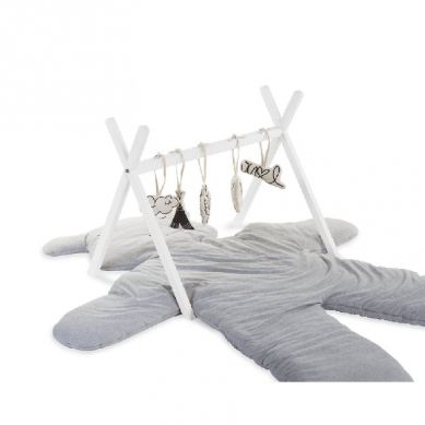 Childhome - Rama na Zabawki Tipi Play Baby Gym White